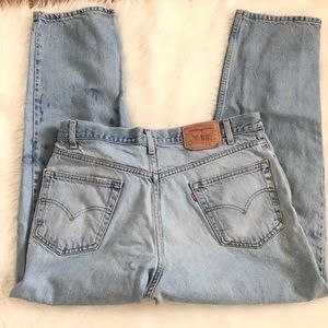 Vintage distressed Levi's straight leg jeans